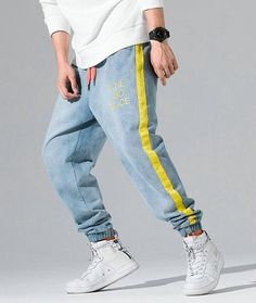 Description MOO Loose Fit Cuffed Jeans Sirwal Polyester MaterialSuitable for Islamic Clothing for MenWhen received the item will show Asian SizeEstimated Delivery from 10 to 21 daysDetails Pant Style: Harem PantsWaist Typ. Harem Pants Men, Mens Jogger Pants, Joggers, Swag Outfits Men, Winter Outfits Men, Streetwear Fashion, Streetwear Men, Fashion Pants, Mens Fashion