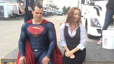 Henry Cavill, in full Superman regalia, and Amy Adams take the #ALSIceBucketChallenge!