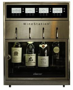 Dacor Discovery 20 Inch WineStation Wine Dispenser with Thermo-Electric Cooling System, LCD Controls, Parental Control Locking Door and Glass Door Wine Station, Wine Dispenser, Wine Chillers, Wine Case, Wine Storage, Küchen Design, Design Ideas, Wine Cellar, Decanter