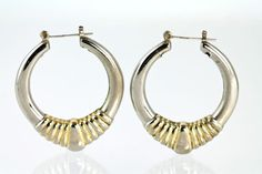 #vintage #sterlingsilver Hoop #earrings