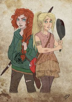 The Walking Disney : Merida and Rapunzel 2 by Kasami-Sensei on deviantART