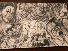 Angel Devil Tattoo, Angel And Devil, Chicano Drawings, Chicano Art, Pencil Drawings, Art Drawings, Prison Art, Dove Tattoos, Lowrider Art