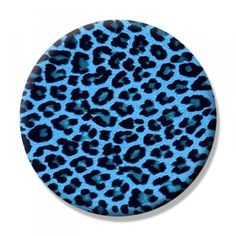 Leopard Blue Button