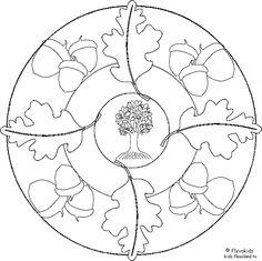 Kleurplaten Herfst Mandala.105 Spannende Afbeeldingen Over Herfst Kleurplaten Coloring