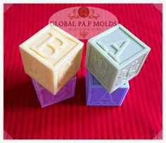 silicone mold, baby block mold 046 , chocolate soap candle moulds
