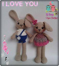 amigurumi rabbit.  http://elemegioyundostlari.blogspot.com.tr/