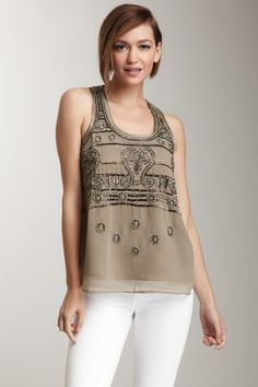 Romeo & Juliet Couture Bead Embellished Top by Romeo & Juliet Couture on @HauteLook