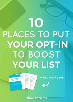 You might have an opt-in or two around your website and think that's sufficient. But did you know it's recommended to have your opt-in at least 7 places around your website? That may sound crazy but are your opt-in forms really doing enough to convert subscribers? In this post I'm going to share with you 10 different places you can advertise your newsletter and boost your list.