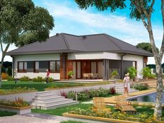 DOM.PL™ - Projekt domu PJK Ka34 CE - DOM GW1-42 - gotowy koszt budowy Pb 2, Outdoor Decor, Home Decor, Decoration Home, Room Decor, Home Interior Design, Home Decoration, Interior Design