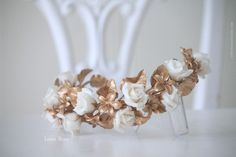 Wedding. Bridal headpiece. Tocado de novia. Corona de novia. Tocado de porcelana