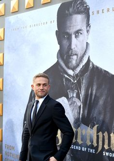 "Charlie Hunnam Photos Photos - Actor Charlie Hunnam attends the premiere of Warner Bros. Pictures' ""King Arthur: Legend Of The Sword"" at TCL Chinese Theatre on May 8, 2017 in Hollywood, California. - Premiere of Warner Bros. Pictures' 'King Arthur: Legend of the Sword' - Red Carpet"