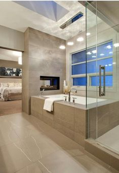 Luxury Master Bathroom Ideas is very important for your home. Whether you choose the Small Bathroom Decorating Ideas or Luxury Bathroom Master Baths Photo Galleries, you will create the best Luxury Master Bathroom Ideas Decor for your own life. Cozy Bathroom, Modern Master Bathroom, Modern Bathroom Design, Bathroom Interior Design, Modern House Design, Bathroom Ideas, Bathroom Organization, Modern Bathtub, Bathroom Remodeling