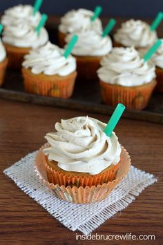 Pumpkin Spice Latte Cupcakes Are the PSLs You Never Knew You Needed