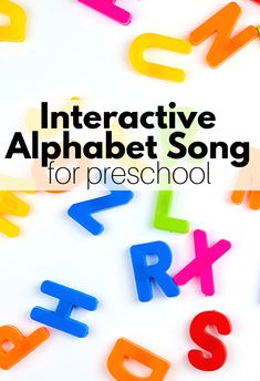 Use this fun interactive song to teach the alphabet to preschoolers and kindergarteners. Songs are a great way to teach the alphabet. Circle Time Activities, Rhyming Activities, Halloween Activities, Toddler Activities, Preschool Halloween, Easy Halloween, Teaching The Alphabet, Teaching Kids, Teaching Resources