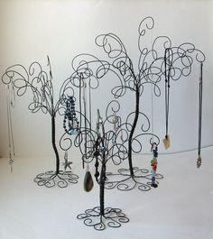 3  Wire Jewelry Tree Stands  Earring RingsBracelets by TillaGarden, $48.00