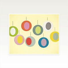 Christmas Decor Mid Century Abstract Art by CassiaBeckCollage