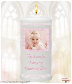 inch Christening Favour: * Each favour comes personalised with baby's name, Thank you message and Date of Christening * Each candle is wrapped and tied with a Ribbon, ready for you to give to your guest on your Baby's special day Christening Favors, Thank You Messages, Personalized Candles, Angels In Heaven, Color Names, Baby Pictures, Baby Names, Special Day, Gingham