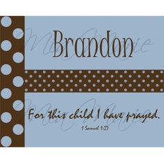 For Lincoln, nice in a frame for decoration at the Baptism party, or in his nursery bedroom on a shelf.