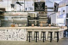 werkplaats in combi met eetgelegenheid (industrial look)