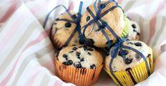Recette de Muffins allégés au yaourt 0% et myrtilles. Facile et rapide à réaliser, goûteuse et diététique. Ingrédients, préparation et recettes associées.