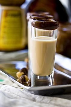 NUTELLA SHOT    The ingredients and measurements are:    * 1 cup ice    * ½ cup milk    * 2 tablespoons Nutella    * 1 shot Baileys    * 1 shot vanilla vodka    Instructions:    Place all the ingredients into a blender and blend until thick and creamy. Pour into shot glasses. Enjoy!