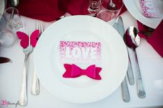 Idea for pink and grey wedding party or the other. Party decor DIY.