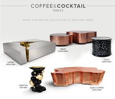 check this preview of coffee and cocktail table home furniture, luxury furniture, high end furniture, modern furniture, contemporary furniture, interior design ideas, design ideas, modern furniture ideas, interior design. For more inspirations, http://www.bocadolobo.com/en/inspiration-and-ideas/