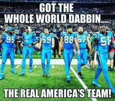 Got the world dabbin! #carolinapanthers #keeppouding #SheGreenville