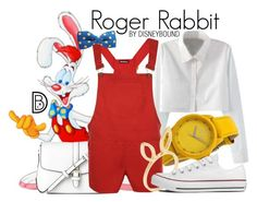"""""""Roger Rabbit"""" by leslieakay ❤ liked on Polyvore featuring WithChic, Toy Watch, L.K.Bennett, WearAll, Jacquie Aiche, Converse, Easter, disney and disneybound"""