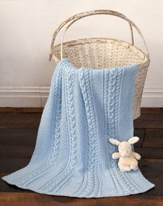 Caron International | Free Project | Little Boy Blue Baby Blanket = Must make this one!