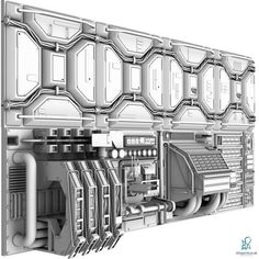 Sci-Fi Wall Panel - 3D Model for Sale - 3D Squirrel on Behance