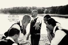 groomsmen picture idea... this is funny!