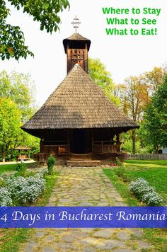 How to spend 4 days in Bucharest , guide to Bucharest, things to do, where to stay and what to see in Bucharest Romania. This is one of the houses at Dimitrie Gusti village museum. #Bucharest #travel