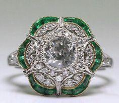 Vintage Jewelry Art Deco Ring Purple Sapphire Ring Vintage Engagement Ring… Art Deco Sapphire And Diamond Drop Earrings Art Deco Schmuck, Bijoux Art Deco, Art Deco Jewelry, Schmuck Design, Jewelry Rings, Jewelry Accessories, Fine Jewelry, Jewelry Design, Jewlery