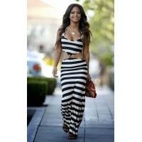 - Christina Milian -Stylish stripe long slim dress for the stylish fashionista - Trendy design offers a unique stylish look - Perfect for special occasions or parties - Made from high quality material Christina Milian, Maxi Robes, Beach Dresses, Dress Beach, Dress Summer, Summer Outfits, Celebrity Style, Bodycon Dress, Boho