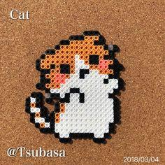 Perler Beads by Tsubasa.Yamashita #8bit#8bitart#art#artwork#beads#crafts#fusebeads#hamabeads#handmade#happy#nabbibeads#perlerbeads#photo#pixel#pixelart#Celebrities#Portrait#アイロンビーズ#ドット絵#パーラービーズ#拼豆#拼拼豆豆#cat#猫