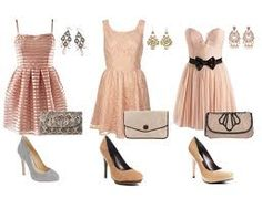 i love the first dress and shoes, second pair of earrings and the last clutch.
