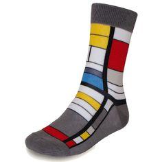 Men's Piero Liventi Cotton Mondrian Dress Socks PL333-1 at Amazon Men's Clothing store: