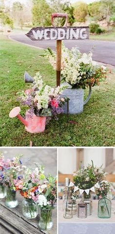 Decoración para tu boda al aire libre en primavera. Wedding Themes, Wedding Signs, Our Wedding, Dream Wedding, Wedding Decorations, Spring Wedding, Deco Champetre, Deco Floral, Garden Wedding