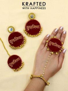 Tassel Jewelry, Fabric Jewelry, Bohemian Accessories, Bridal Accessories, Bridal Earrings, Bridal Jewelry, Wedding Badges, Desi Wedding Decor, Fabric Earrings