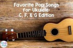 Are you looking for clean, age-appropriate pop music to teach ukulele? Here are some of the songs I use in my own classroom for ukulele instruction! Ukulele Songs Beginner, Ukulele Chords Songs, Cool Ukulele, Ukulele Tabs, Guitar Songs, Ukulele Cords, Ukulele Fingerpicking, Fingerstyle Guitar, Singing Lessons