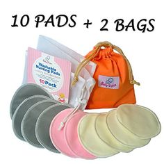 These bamboo Nursing pads arethe best I've found so far! Washable Nursing Pads 10 Pack (Organic Bamboo) + Laundry Bag + Travel Bag + Thank You Bonus. Stop Leaking, Enjoy Breastfeeding With Softest Reusable Breast Pads by BabyVoice®