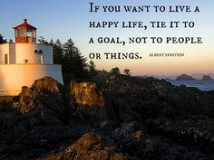 get happy challenge Albert Einstein quote