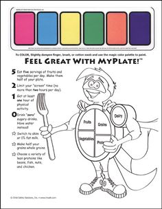 Free Nutrition Printables To Help Kids Set Healthy Eating Goals