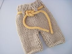 Knit baby pants with drawstring   bulky weight  by bebebeecouture, $18.00