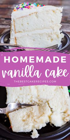 Everyone needs a traditional vanilla cake recipe in their recipe box. A cake that is good for birthday layer cakes, sheet cakes and as the base of creative fruit cakes. This is our cake recipe for all of that and more. Homemade White Cakes, Homemade Vanilla Cake, White Sheet Cakes, Sheet Cake Recipes, Fruit Cakes, Almond Cakes, Layer Cakes, Cakes And More, Recipe Box