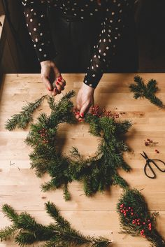 Classic wreath making for the holidays! #christmas