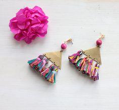 Tassel statement earrings Astrid by Tzunuum on Etsy, $95.00