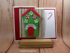 Stampin' Up! Christmas card made with Sweet Home and designed by Demo Pamela Sadler. See more cards at stampinkrose.com #stampinkpinkrose