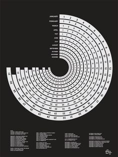 2012 Calendar Poster  Screen Printed by LittleMadameJam on Etsy, $10.00
